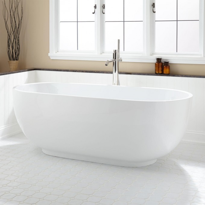 Cheap free standing portable soaking tub buy japanese for Oval tub sizes