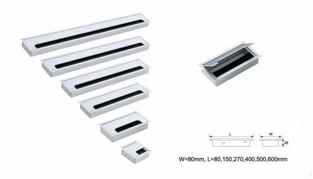 New Design Aluminium Alloy Grommet Box For Computer Desk