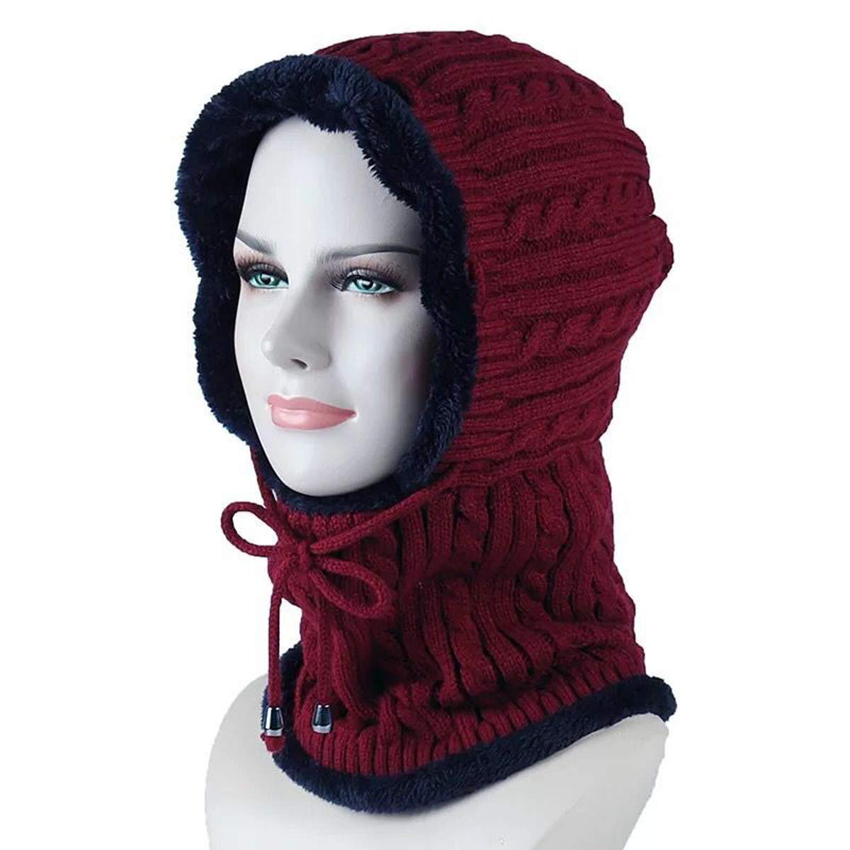 8e999562 Get Quotations · Lanzom Outdoor Women Windproof Ski Riding Hats Winter Warm  Knitted Balaclava Beanie Hat