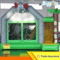 Elephant Inflatable Air Play Bouncy Castle Slide Combo