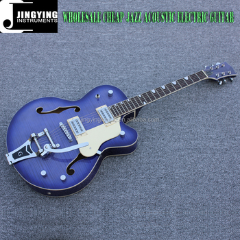 Wholesale High Quality Factory Direct Sale OEM Jazz Type Acoustic Electric Guitars