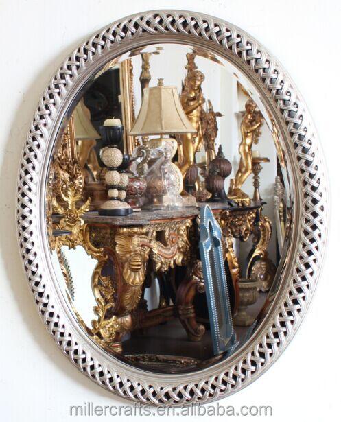 Miller Artesanía Hoja De Oro Antiguo Marco Oval Espejo De Pared ...