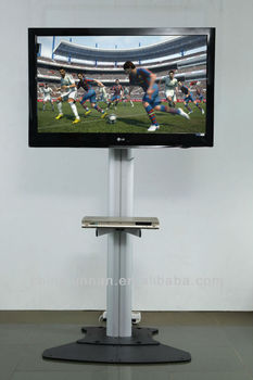 Beautiful Beautiful Floor Standing Tv Mount With Wheels For Home And Office