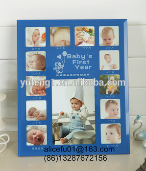 Wholesale Glass Baby 12 Month Photo Frame Baby First Year Photo