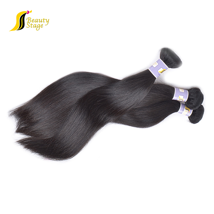 Natural virgin human kinky silky straight hair extensions,wholesale black brazil human hair extension