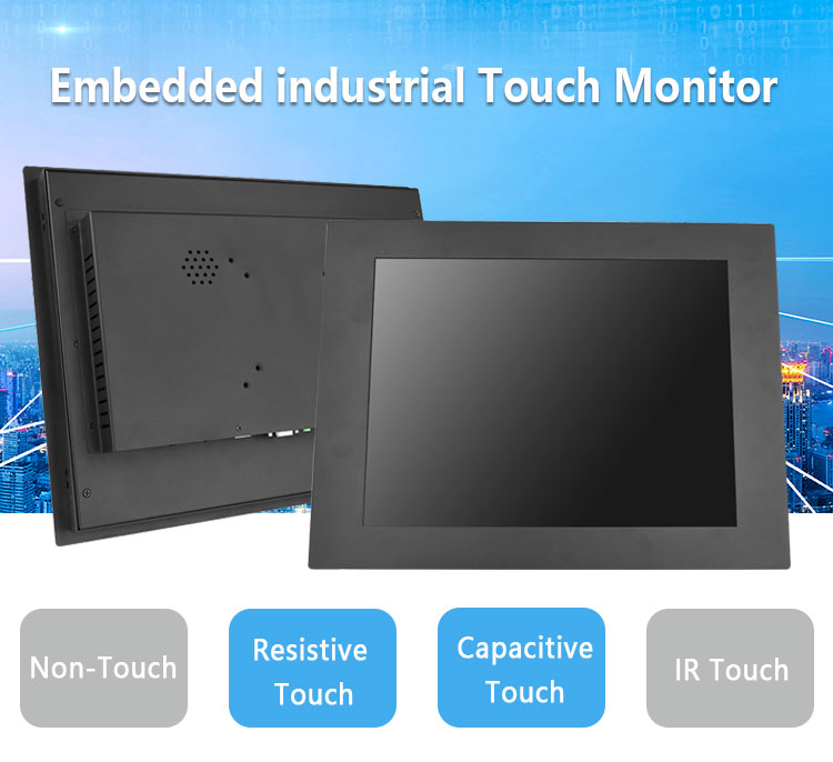 Open frame 15 inch capacitive touch monitor USB touchscreen monitor