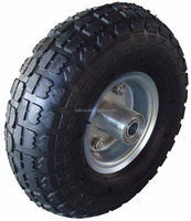 good quality 10''x3'' pneumatic tire and rubber wheels with rim