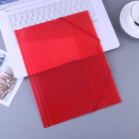 Transparent PP A4 Size File Folder With Elastic Cord