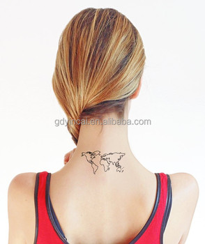 World map temporary tattoo fake tatto sticker men women painting world map temporary tattoo fake tatto sticker men women painting tattoos waterproof temporary tattoo sticker gumiabroncs Image collections