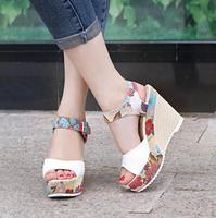 2017 new design summer roman peep toe fashion women wedge sandal