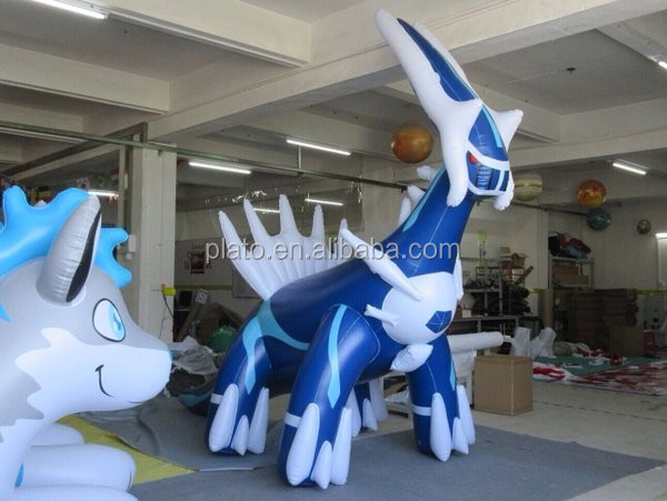 Factory Price Custom Inflatable Lugia , large inflatable animals Dragon Shape