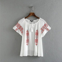 MS68418W newly embroidered design women blouse indian fashion clothing