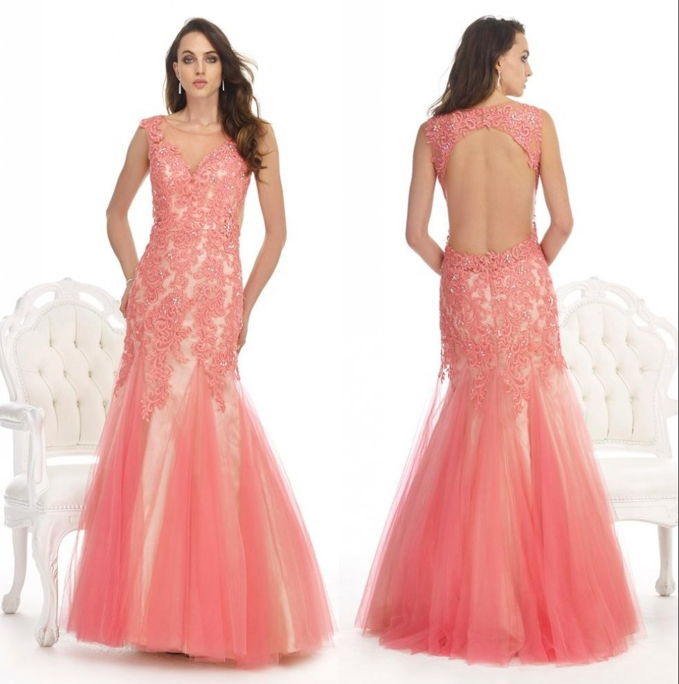 Cheap Peach Prom Gowns, find Peach Prom Gowns deals on line at ...