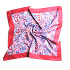 wholesale high quality women square silk twill digital print scarf