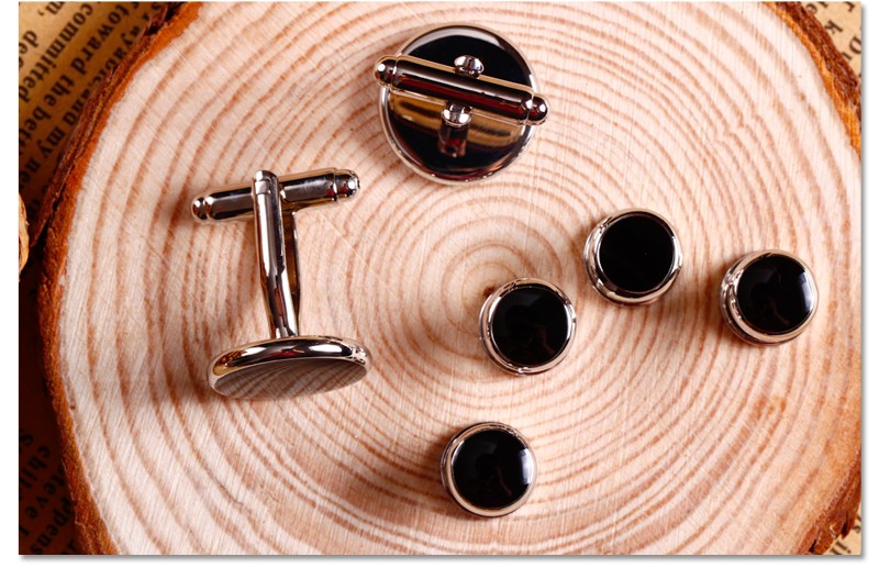 High quality sliver sets mens's cufflinks