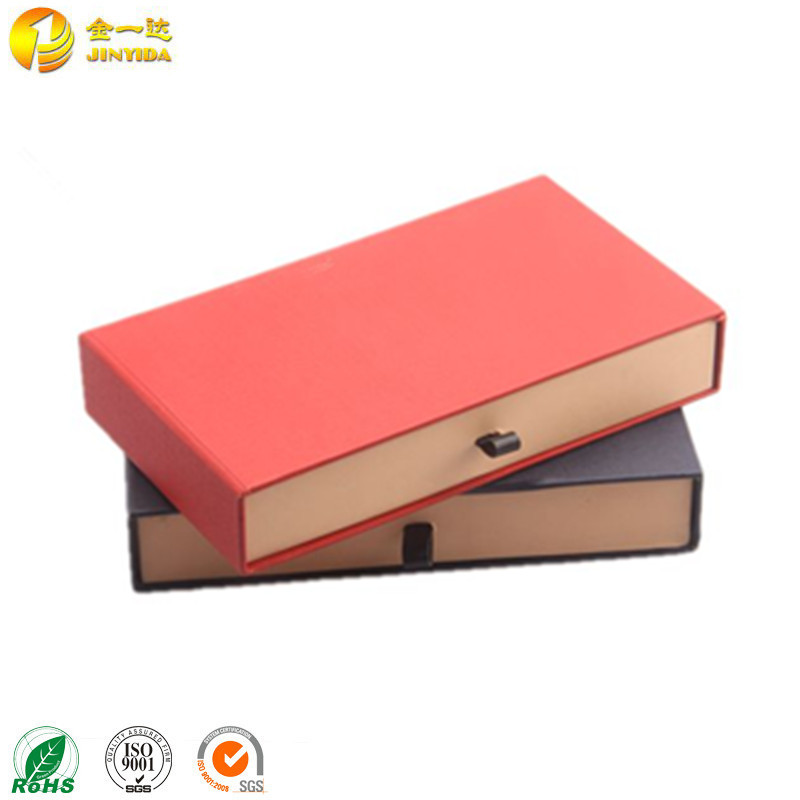 Rigid Cardboard Packaging Paper Drawer Storage Box With Handle