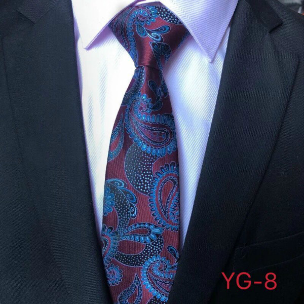 Brown red background <strong>blue</strong> cashew <strong>flower</strong> <strong>tie</strong> for men YG8