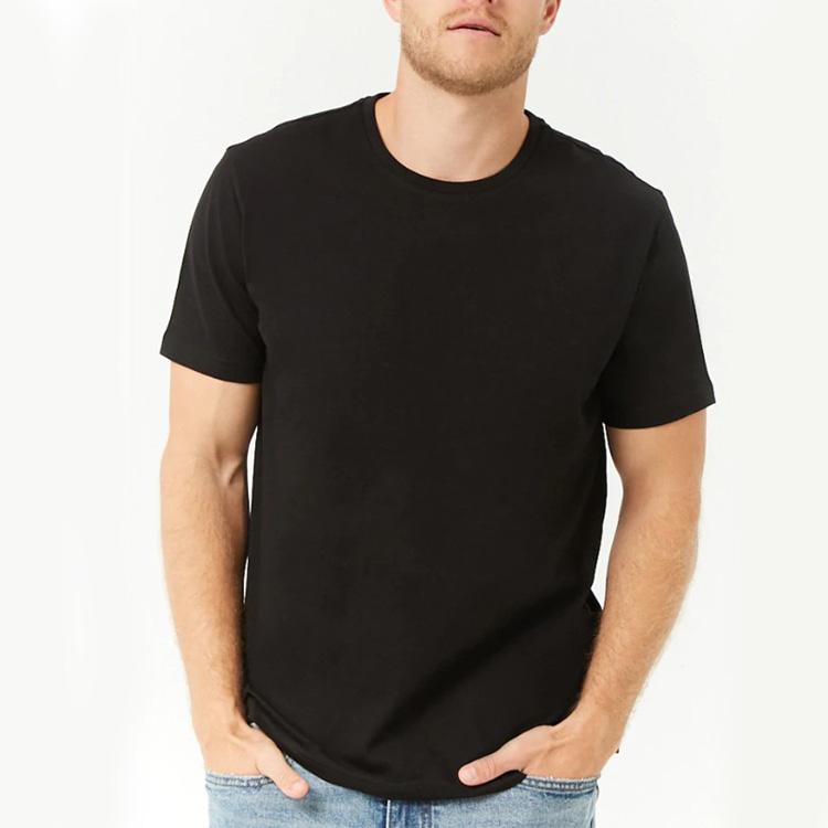 Camisetas ajustadas con cuello redondo impresas de algodón para hombre