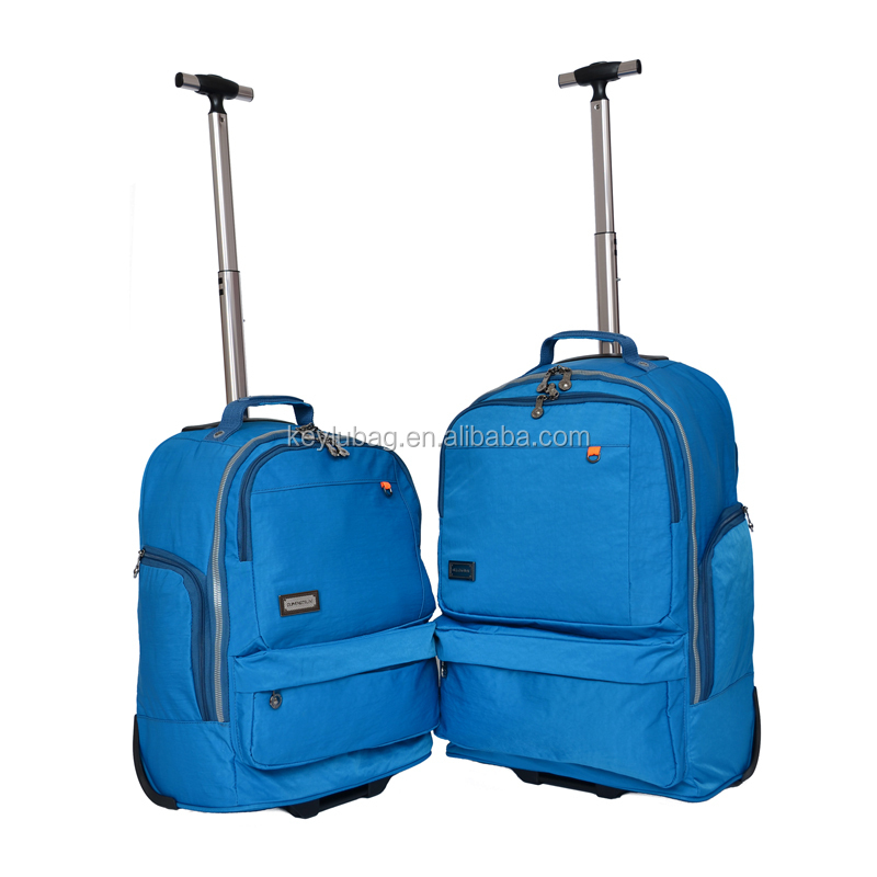 Computer boarding wheeled suitcase adult travel bag backpack waterproof canvas trolley backpack