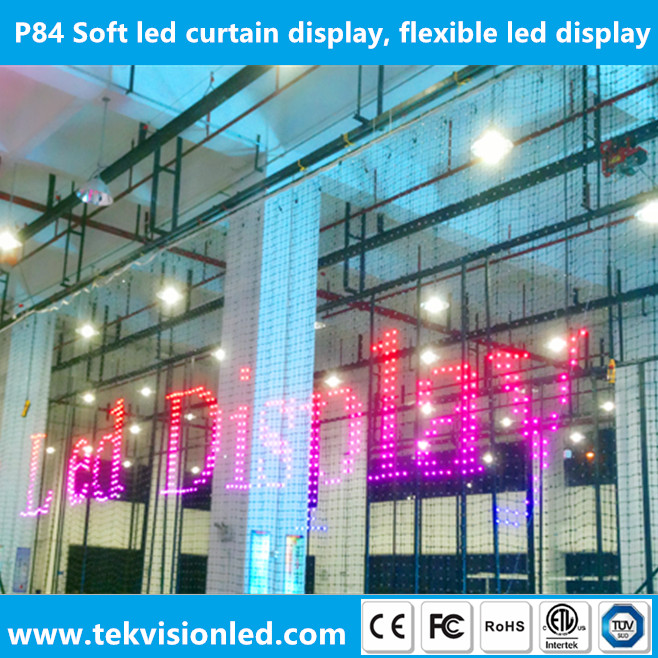 Soft led curtain display, flexible led display, flexible led screen p84
