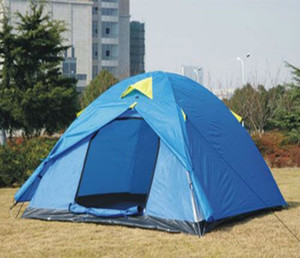 Outdoor umbrella Hiking heavy duty camping tent for 3-5 person in wholesale