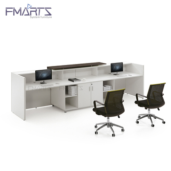 Awesome High End White Modern Aesthetic Appearance E1 Wooden Office 2 Person Reception Desk Buy Reception Desk 2 Person Reception Desk Office Reception Desk Pabps2019 Chair Design Images Pabps2019Com
