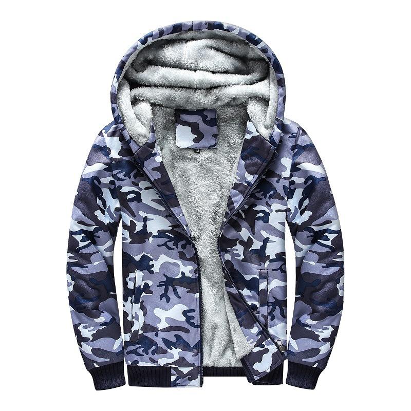 e6df8d4f8903 2019 autunno e in inverno dei nuovi uomini di più di velluto maglione  camouflage marea Britannico