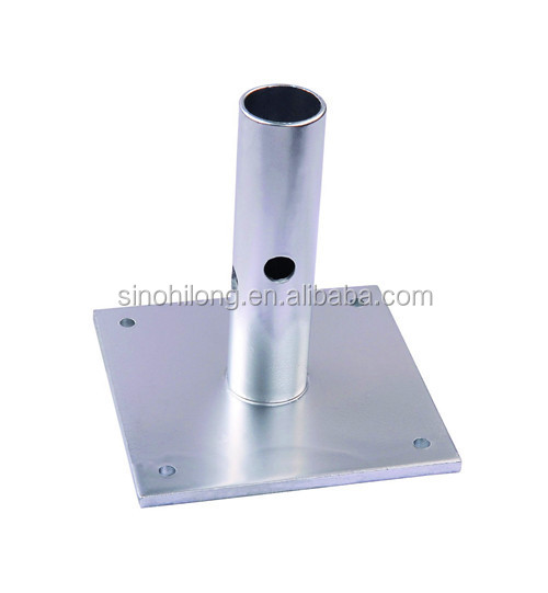 steel scaffolding base plate / threaded base plate for ringlock scaffolding