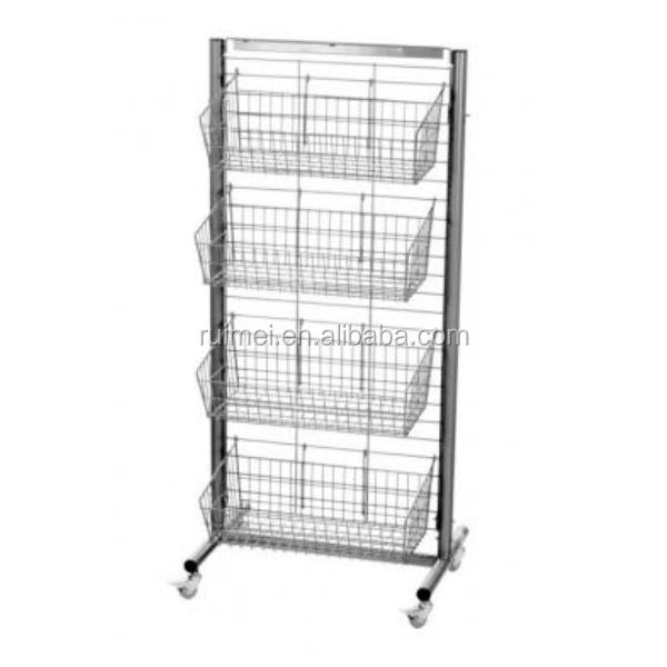 Removable 4 Tiers Wire Grid Display Racks, View grid display racks ...
