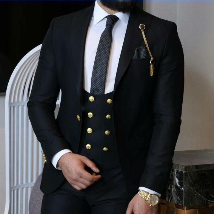 Wholesale Wedding Tuxedos Slim Fit <strong>Suits</strong> For Men Groomsmen <strong>Suit</strong> 3 Pieces Cheap Prom <strong>Formal</strong> <strong>Suits</strong> (Jacket+Pants+Vest+Tie)