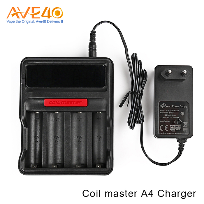 2017 New Trendy Products Express Ali Electronic Cigarette Battery Charger Coil Master A4 Charger For 18650 Batteries