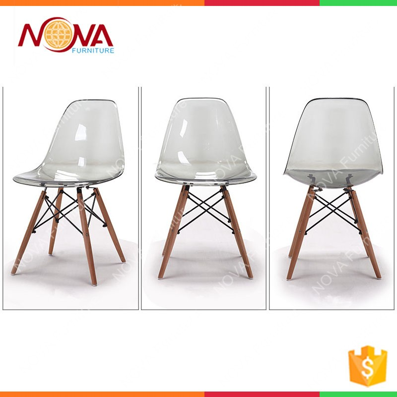 Elegant Wholesale Garden Furniture Cheap Used Clear Plastic Material Polycarbonate  Resin General Colorful Wooden Garden Chairsfor Sale