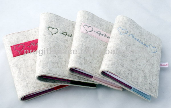 Handmade Felt Book Cover : New hot sell fancy handmade polyester book diary