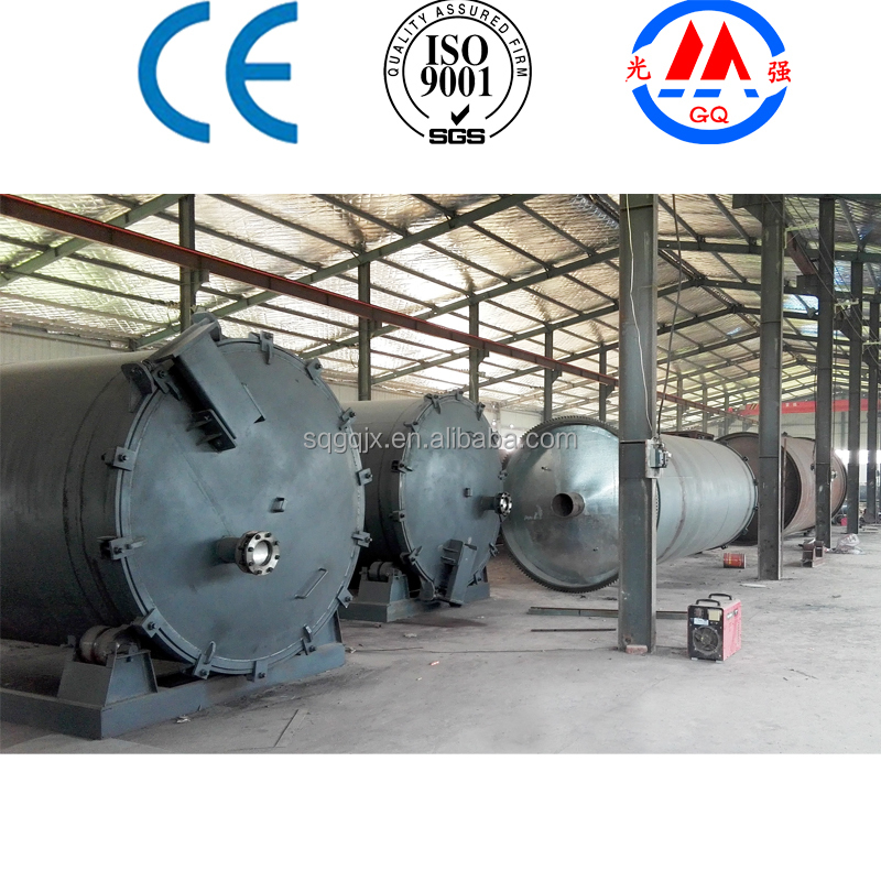 continuous waste tyre plastic small or giant pyrolysis plant for sale