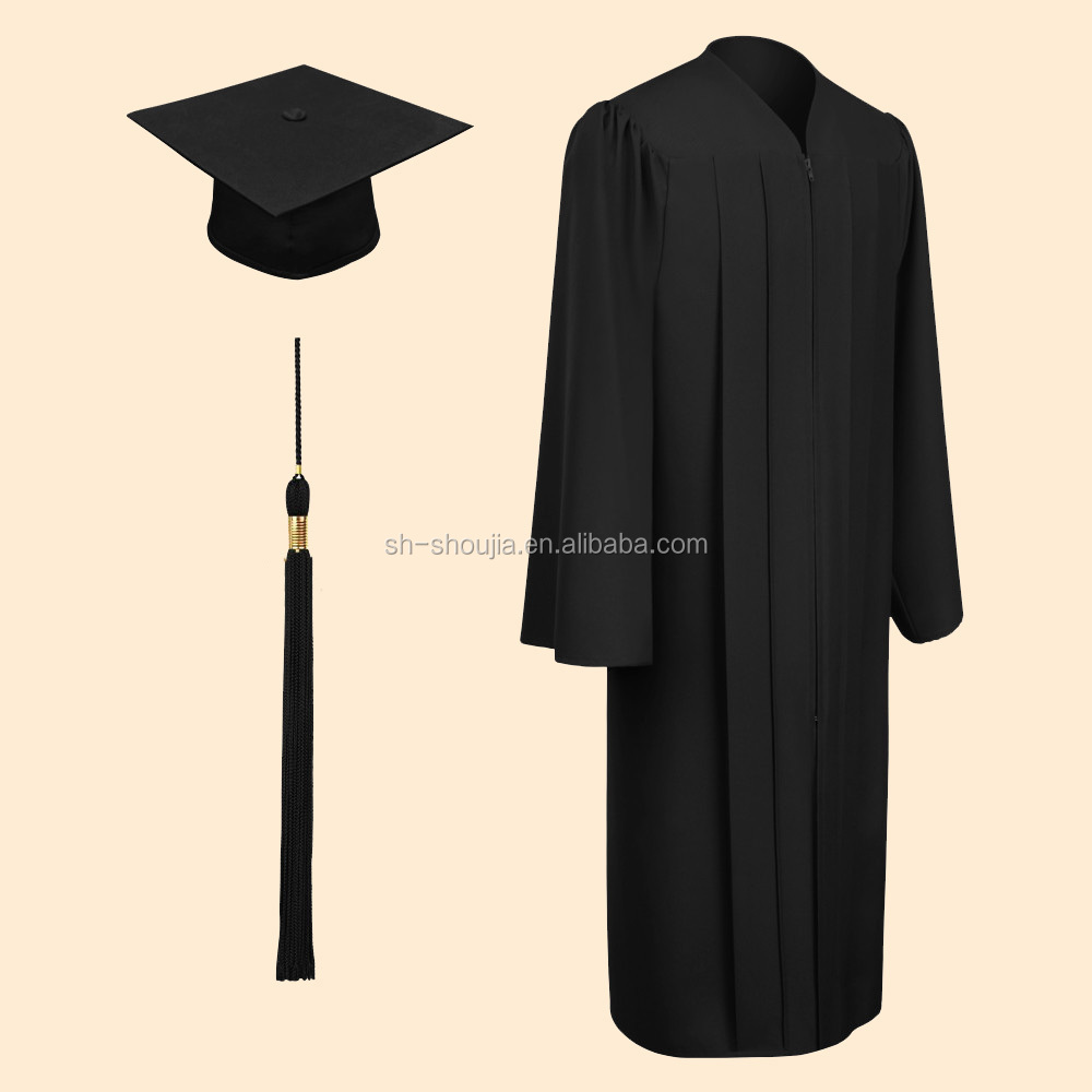 Bachelor Black Graduation Gowns And Caps - Buy Customized Graduation ...
