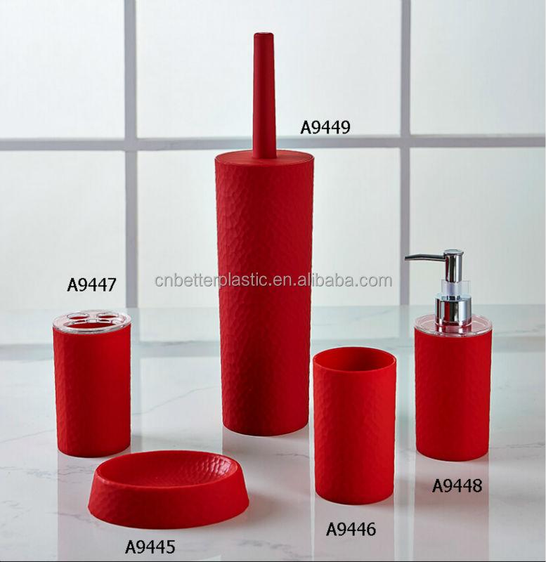 Pl stico accesorios de ba o con vaso tootbhrush titular for Accesorios bano plastico