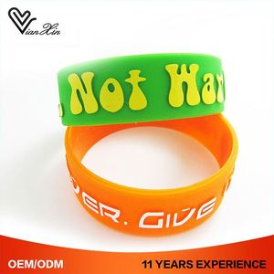 Health Custom Thin Personalized Live Strong Rubber Silicone Bracelet