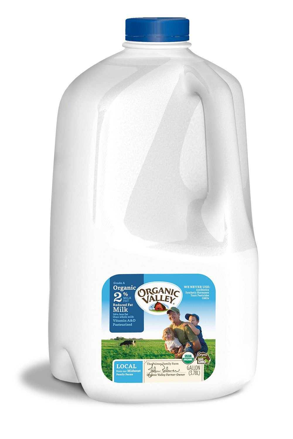 Organic Valley, Organic 2% Reduced Fat Milk, Pasteurized, Gallon, 128 Ounces