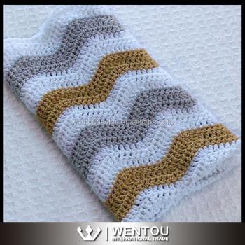 Hot Sale Chevron Crochet Baby Blanket