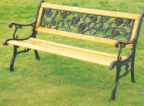 Guangzhou Good Quality Wrought Iron Garden Benches/wooden Bench With Metal  Legs/decorative Garden