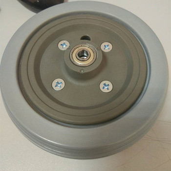 High Quality Polyurethane Round Wheelchair Parts Wheels for Walker