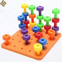 Amazon Hot Sell Peg Board Stacking Toddler Toy kids Educational Toys