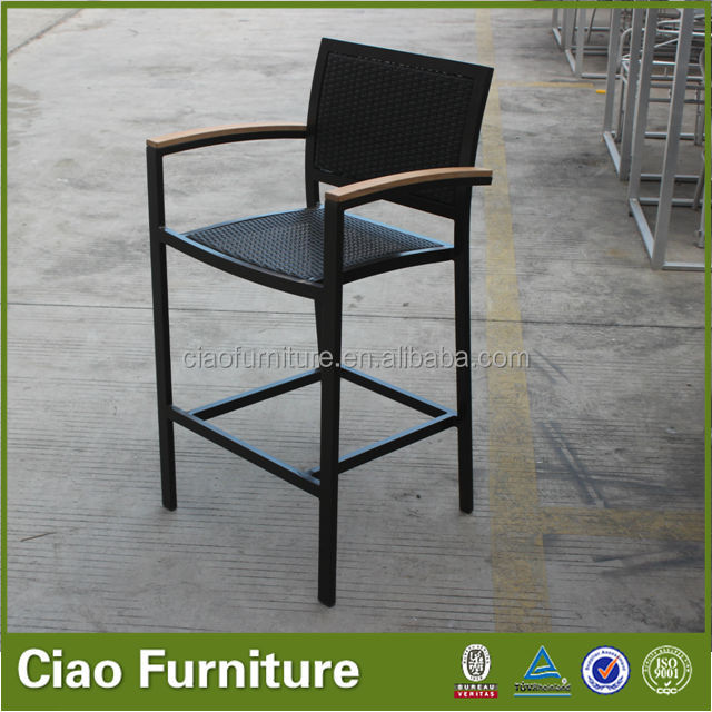 high quality pe rattan bar chair arm bar chair