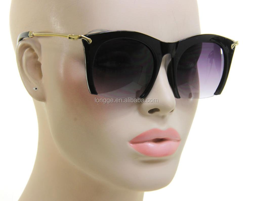 Retro 50/'s 80/'s Vintage Style Womens Fashion Large Cat Eye Sunglasses Black