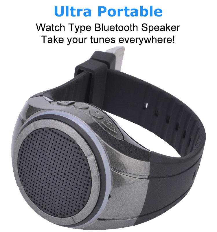 China wholesale fashion wireless portable bluetooth speaker watch shaped mini stereo waterproof bluetooth speaker