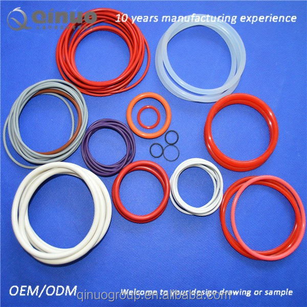Small custom molded silicone rubber o ring