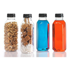 Clear PET 350 Ml Cold Brew coffee Plastic Bottles Square Juice Beverage smoothies Bottles