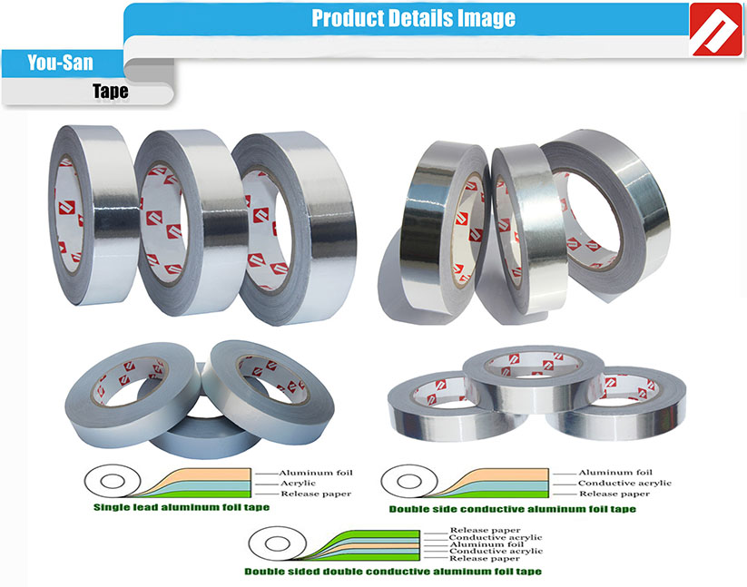 Free Samples Mylar Foil Sheets Electrically Conductive Reinforced Aluminum Foil Mylar Tape