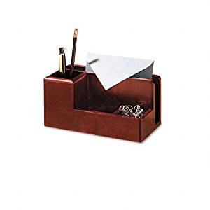 Rolodex Products - Rolodex - Wood Tones Desk Organizer, Wood, 4 1/4w x 8 3/4d x 4 1/8h, Mahogany - Sold As 1 Each - Classic design combines with contemporary black matte or mahogany finish - an elegant warm metropolitan look. - Four compartments keep notepads, messages, pens/pencils, clips,