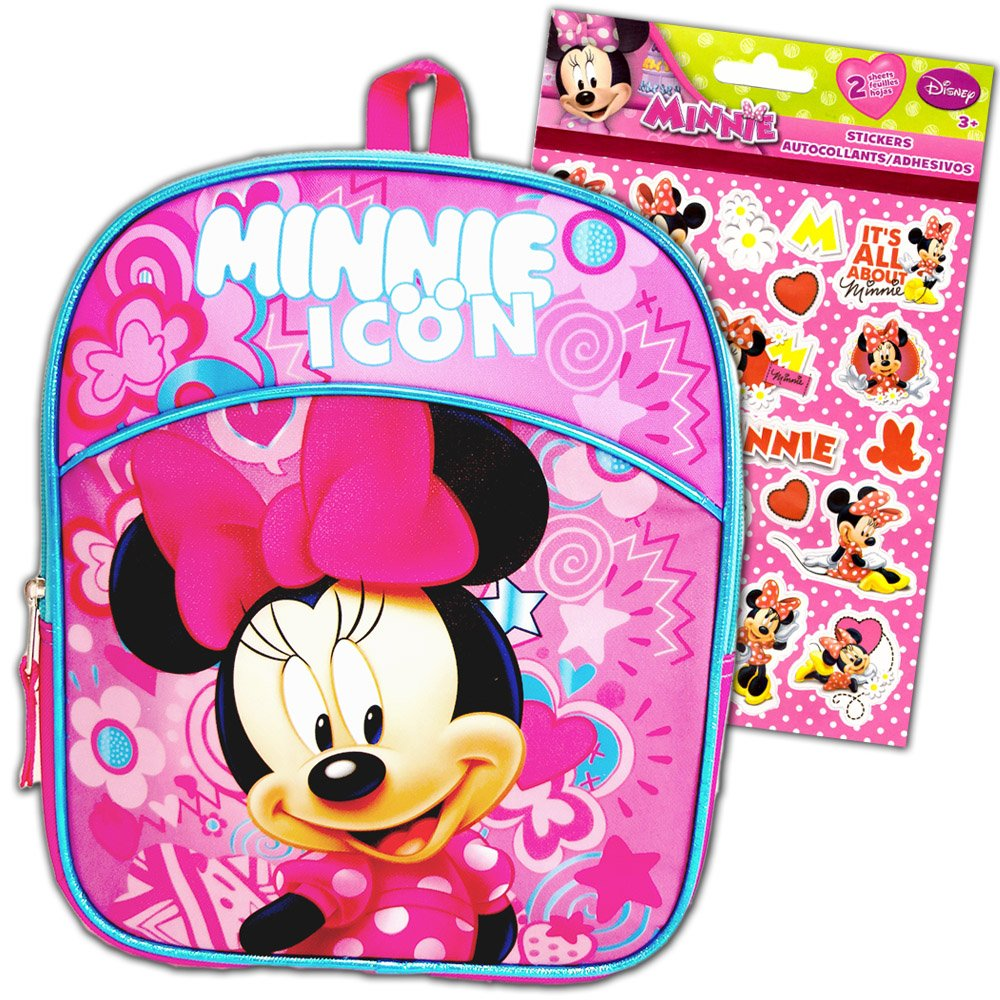 "Disney Minnie Mouse 11"" Mini Toddler Pre-school Backpack"